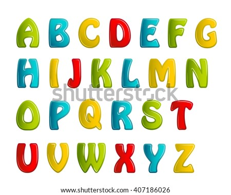 colors shiny letters holiday fonts