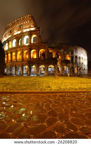 Colosseo at night, Rome - stock photo