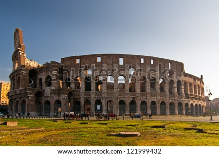 Colosseum by Day - stock photo