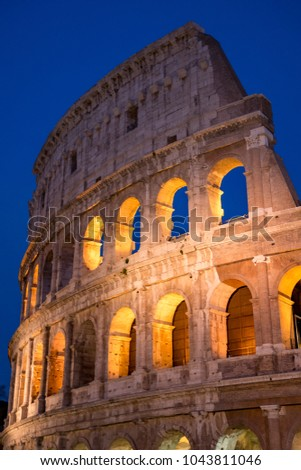 Colosseum by Night in Rome, Italy