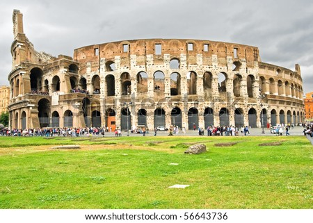 Colosseum Dome on a summer day in Rome, Italy