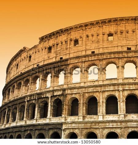 Colosseum in Rome 3 - stock photo