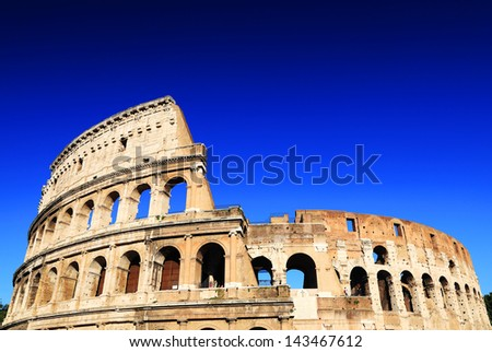Colosseum in Rome, Italy, Europe - stock photo