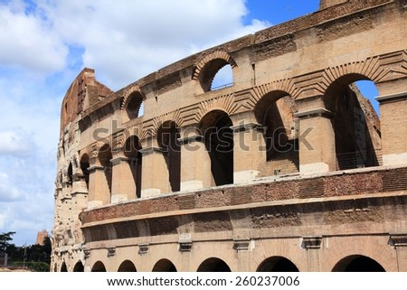 Colosseum in Rome, Italy - historical landmark. Roman ruin. - stock photo