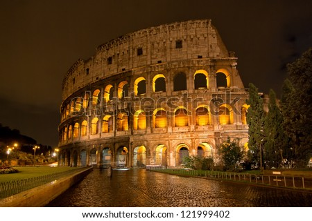 Colosseum Night view - stock photo