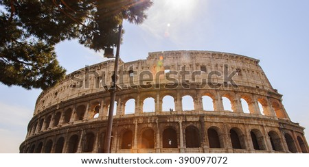 Colosseum or Coliseum, also known as the Flavian Amphitheatre