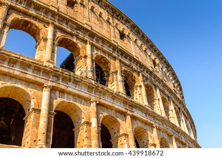 Colosseum or Coliseum, Rome, Italy. One of the main touristic destinations in Rome