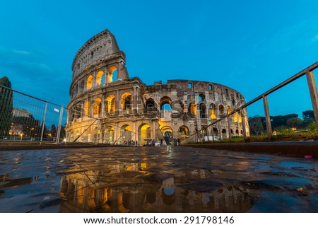 Colosseum, Rome at night - stock photo