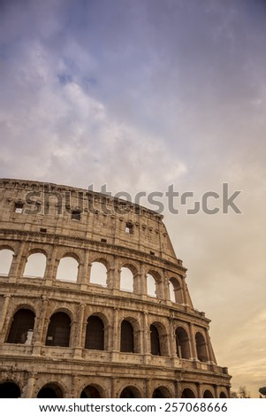 Colosseum, Rome, Italy. HDR - stock photo