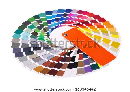 Colour guide on a white background - stock photo