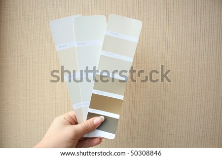 Colour palette for design and painting - stock photo