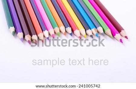 Colour pencils - stock photo