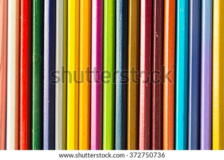 Colour pencils on white background, isolated