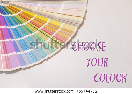 Colour Sample Chart Close Up Colour Stock Photo   Shutterstock