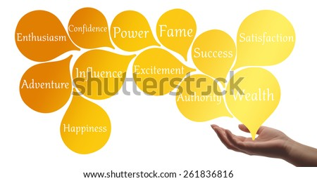 Colour Therapy - Gold healing energy - stock photo