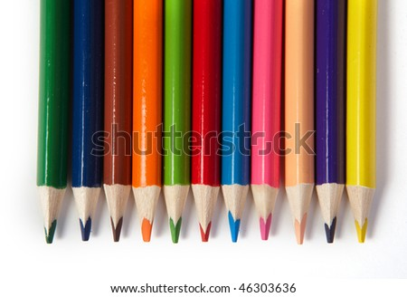 coloured pencils - stock photo