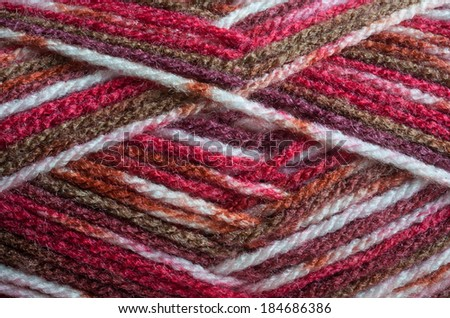 coloured yarn closeup texture - stock photo