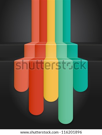 Colourful Abstract Background (jpg). Vector version also available - stock photo