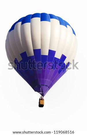 Colourful air balloon flying at the end of day - stock photo