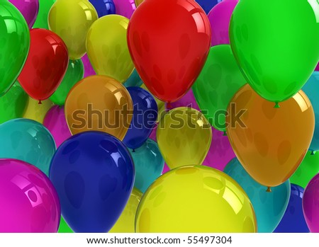 colourful air balloons floating