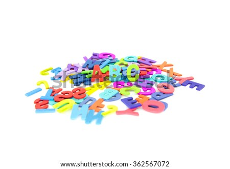 Colourful alphabet isolated  background