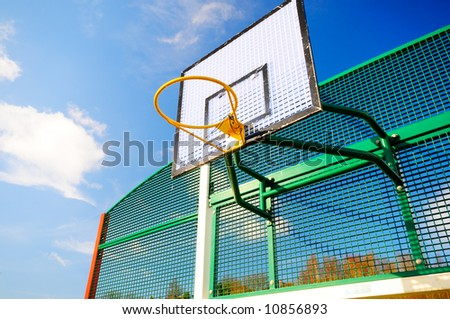 Colourful Basketball hoop - stock photo