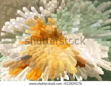 Colourful blocks abstract background - stock photo