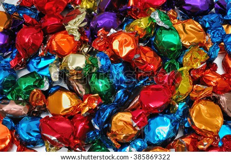 colourful candies - stock photo