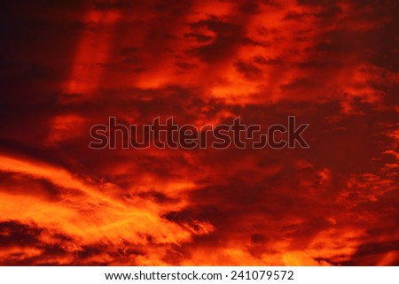 colourful clouds at sunset