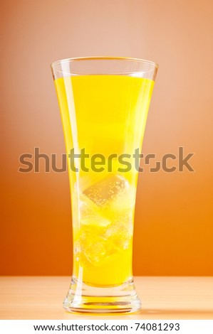 Colourful cocktail in glasses - stock photo