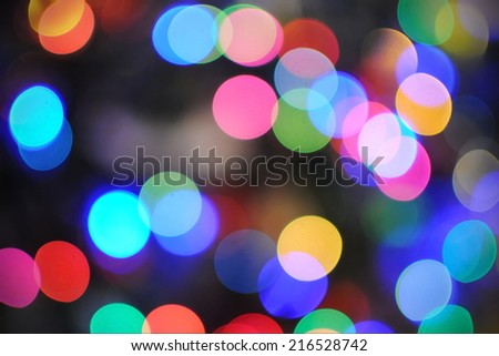 Colourful Defocused Lights Background - stock photo