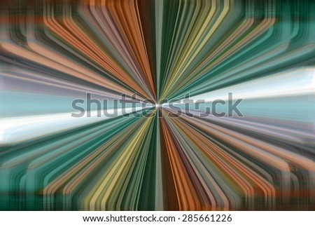 Colourful dynamic converging lines background - stock photo