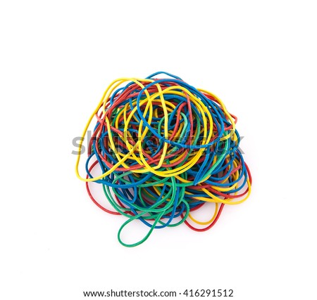 colourful elastic bands