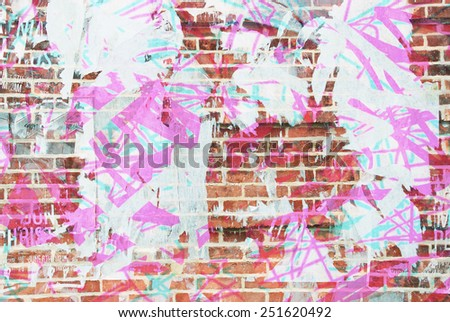 colourful grunge, ripped poster  - stock photo