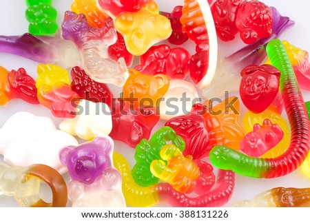 Colourful gummy candies - stock photo