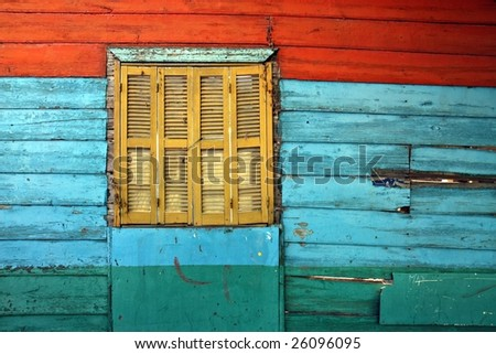 Colourful houses at La Boca in Buenos Aires - stock photo