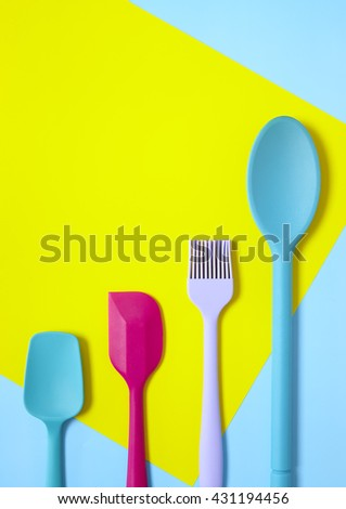 Colourful Kitchen Utensils  - stock photo