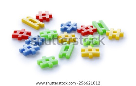 Colourful of construction toys, abstract of construction, organization scattered or business scattered. - stock photo
