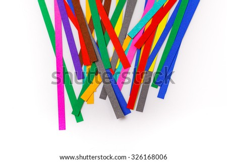 colourful papers background. Rainbow colored paper close up - stock photo