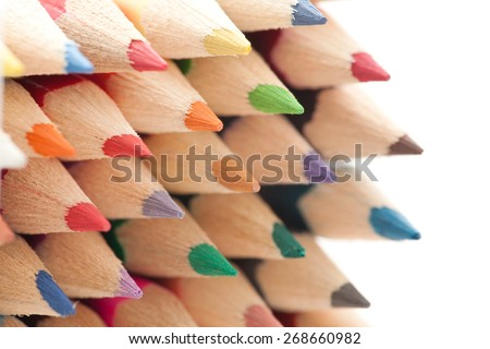 Colourful pencils - stock photo