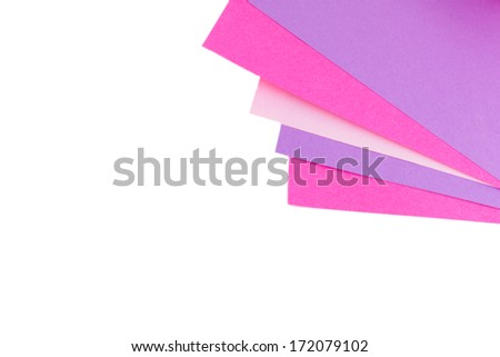 colourful pink and violet  paper - stock photo