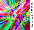 Colourful Psychodelic Prism Abstract With Multiple Colours, Blue, Red, Yellow, Green, Background Graphic - stock photo