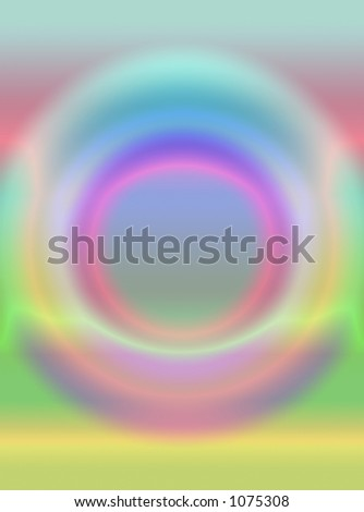 colourful sphere of light - stock photo