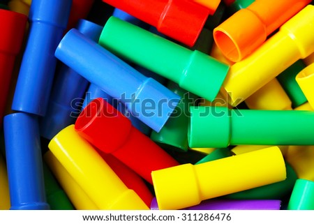 Colourful Water Pipe Plastic Building Blocks.
