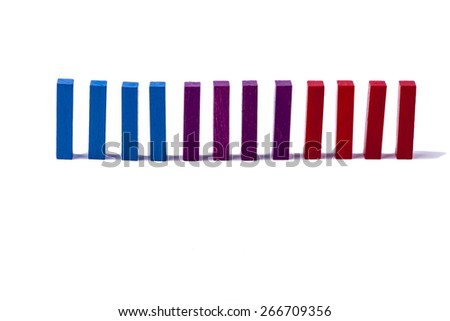 Colourful wooden blocks on white background. - stock photo