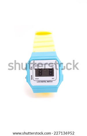 colourful Wristwatch isolated on a white background - stock photo