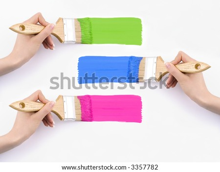 Colours - on your text. - stock photo