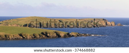 Colsay and Northern Ness, south Mainland, Shetland, Scotland, UK. - stock photo
