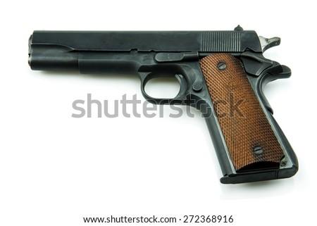 Colt Mark IV Delta Elite series80 government m1911 isolated a white background. - stock photo