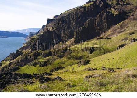 Columbia River Gorge, Washington - stock photo